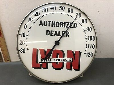 Lyon Metal Products Advertising Thermometer Pam Industrial Age Hardware Co.