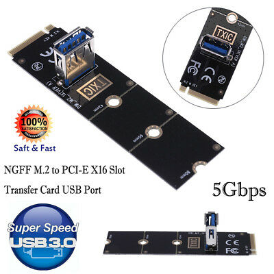 M.2/NGFF to USB 3.0 Port Converter Adapter Graphic Card Cable Extender Mining