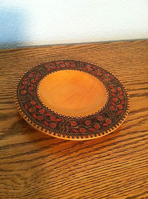 Polish wooden plate