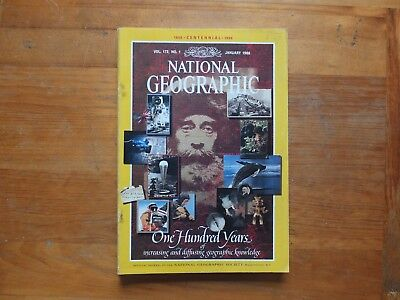 National Geographic Magazine. 100 YEARS - Jan 1988