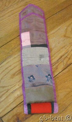 EARLY c 1860-70s Sewing Pocket ROLL up Berks County Pennsylvania COLLECTION