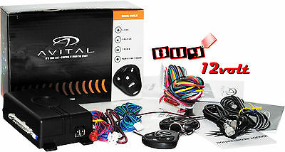 Avital 3100LX 3-Channel Car Alarm System w/ (2) 4-Button Remotes & Keyless Entry