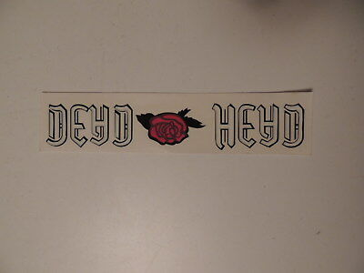 Vintage Grateful Dead DEAD HEAD ROSE Decal Jerry Garcia Bumper Sticker