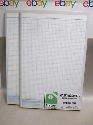 2 Boxes, 100 each, Pre-Ruled Goldenrod Masking Sheets, 13-1/16 x 18-1/8