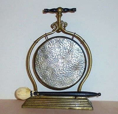 Fantastic Antique Victorian William Tonks & Sons Brass Table Top Dinner Gong
