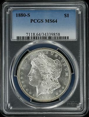1880 S Morgan Silver Dollar $1 Pcgs Certified Ms 64 Mint State Unc (858)