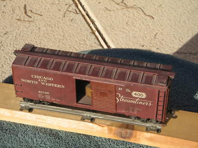 CHICAGO NORTH WESTERN BOX CAR  VINTAGE pre war ? worldwide shipping WOOD CHASSIS