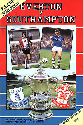 1983/84 Everton v Southampton, FA Cup Semi Final, PERFECT CONDITION
