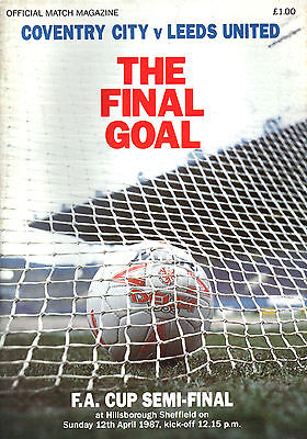 1986/87 Coventry City v Leeds United FA Cup Semi Final, PERFECT CONDITION