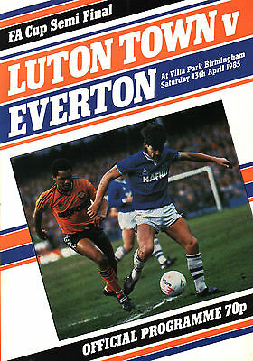 1984/85 Luton Town v Everton, FA Cup Semi Final, PERFECT CONDITION