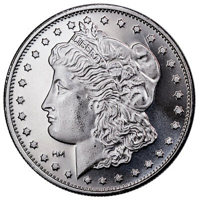 Highland Mint Morgan Dollar Design 1 oz Silver Round-25% Rotated Die SKU51951