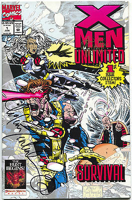 X-Men Unlimited 1 1st Series Marvel 1993 VF NM Signed Bachalo & Panosian