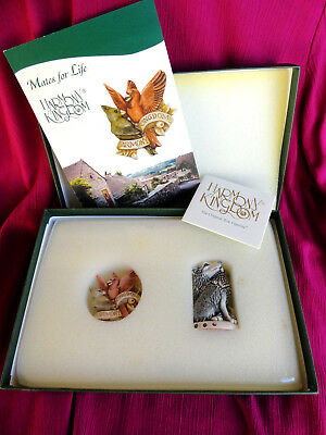 Harmony Kingdom Wolves and Pin Mates for Life Retired Royal Watch Club Set 2004