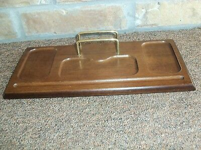 Mens Vintage Wood Valet Tray Jewelry Change Holder