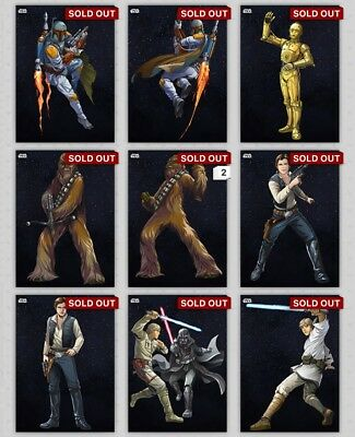 Star Wars Card Trader Galactic Icons Complete Marathon W/ All Awards