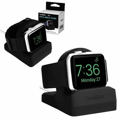 Apple Watch Series 1 2 3 Charging Dock Charger Night Stand Mode 38MM 42MM Black