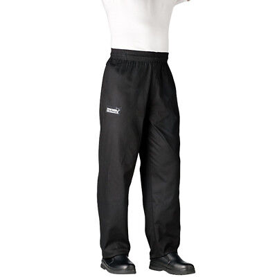 Chefwear Traditional Chef's Pants - Black/ Small