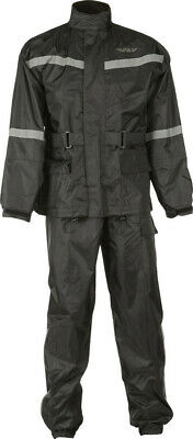 Fly Racing 2-PC Rainsuit Black #6016 478-8010~4 Lg