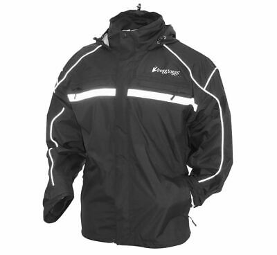 Frogg Toggs Java 2.5 Illuminator Rain Jacket Black TR63135-01-MD M