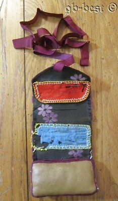 Antique c 1860-80s Sewing Kit ROLL up  EXHIBITED Collection
