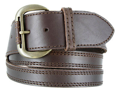 Women's Casual Genuine Leather Crossing Strap Belt - Brown  Size 2 Inches Wide