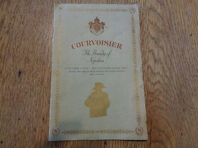 Courvoisier The Brandy Of Napoleon W.A.Taylor & Company