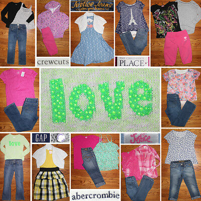 Girls Size 7/8 Spring Clothes Lot, Jeans, Tops, Dresses, Hoodie, EUC, NWT!