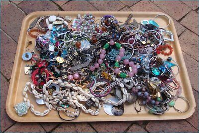Assorted Bulk Lot 4.5kg Vintage Fashion Broken Scrap Jewelry Jewellery