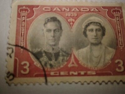 1939 Canada Royal Visit - King George VI-Queen Elizabeth 3 Cent Stamp collection
