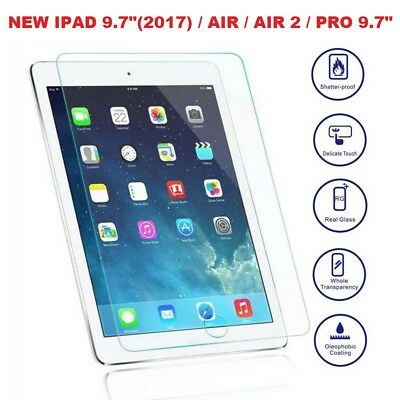 "Genuine Tempered Glass Screen Protector For Apple iPad Air / Air 2 / 9.7"" 2017"