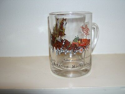 Budweiser Champion Clydesdales Busch Clear Beer Mug Coffee Cup Mug Glass