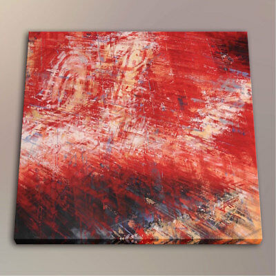 Modern HD Print Red Abstract Room Wall Art Deco Painting on Canvas 10x12