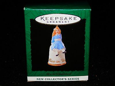 New Mib Hallmark 1995 Alice In Wonderland Miniature Ornament Fast Free Shipping