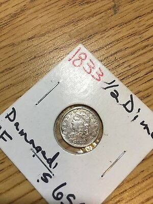 1833 1/2 Half Dime Capped Bust Silver
