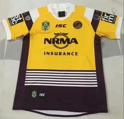 NEW 2018-19 Australian broncos Commemorativ rugby jersey T shirt tee Size: S-3XL