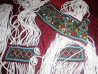 Handcrafted Ceremonial Dance Sash Used in Reenactments Glass Seed Beads