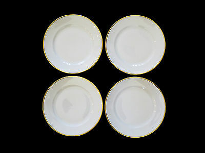 Rosenthal Aida 1473 White with Gold Trim Dinner Plates