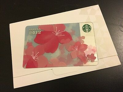 Starbucks Japan Sakura Cherry Blossom Gift Card 2012 Limited Edition