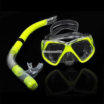 New Scuba Diving Equipment Dive Mask + Dry Snorkel Set Scuba Snorkeling ElR8 02