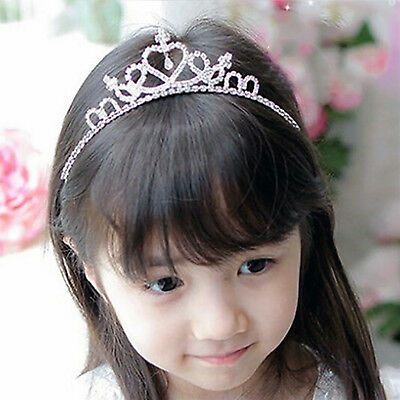 Rhinestone Tiara Hair Band Kid Girls Bridal Princess Prom Crown Headband Hot HI