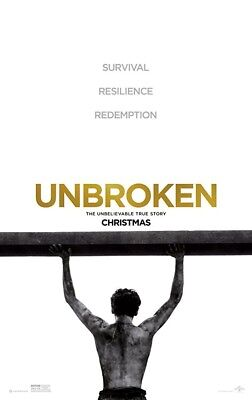 UNBROKEN MOVIE POSTER 2 Sided ORIGINAL FINAL 27x40 JACK O'CONNELL