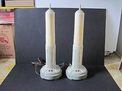 Vintage Matching Pair of Vintage Empire State Building Art Deco Table Lamps
