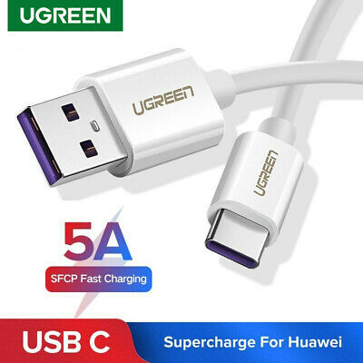 Ugreen USB C Cable 5A Super Charge USB Type C Fast Charging fr Huawei Mate 10 LG