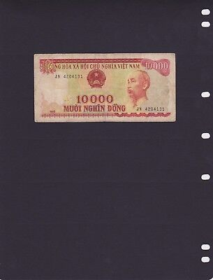 """Vietnam 1993 - Banknote 10,000 """"Dong Ho Chi Minh"""" Portrait - used"""