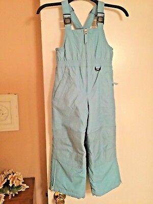 Lands End Girls Or Boy's Light Blue Insulated Snow Pants Ski Bib Overalls SIze 5