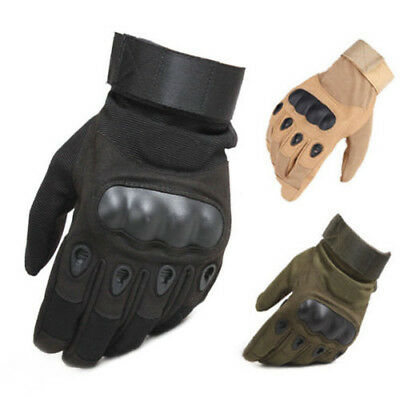 Tactical Hard Knuckle Full Finger Gloves Men's Army Military Climbing Paintball