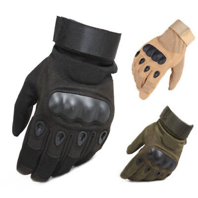 Tactical Hard Knuckle Full Finger Gloves Men's Military Army Airsoft Paintball