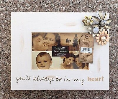 C.R. Gibson Treasured Frame by Sandra Magsamen, 4 by 6-Inch, In My Heart
