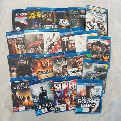 Blu-ray Disc Pack 21 x Movies Super, Act of Valour, Family Guy, Jackass 3,Spirit