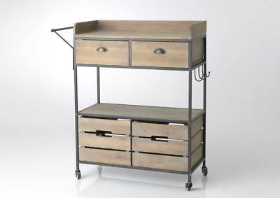 CARRELLO CUCINA CONSOLLE Design Vintage Industriale Shabby Chic ...